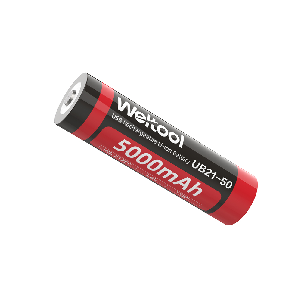 Weltool UB21-50 Rechargeable lithium-ion battery with Type-C charging interface, 5000mAh